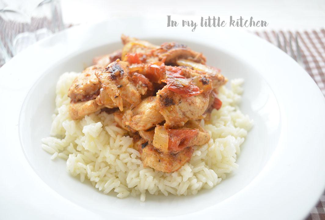 Pollo marinado en za'atar
