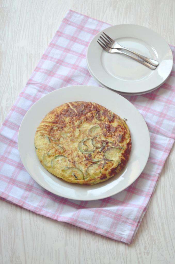 Tortilla de calabacin y puerro