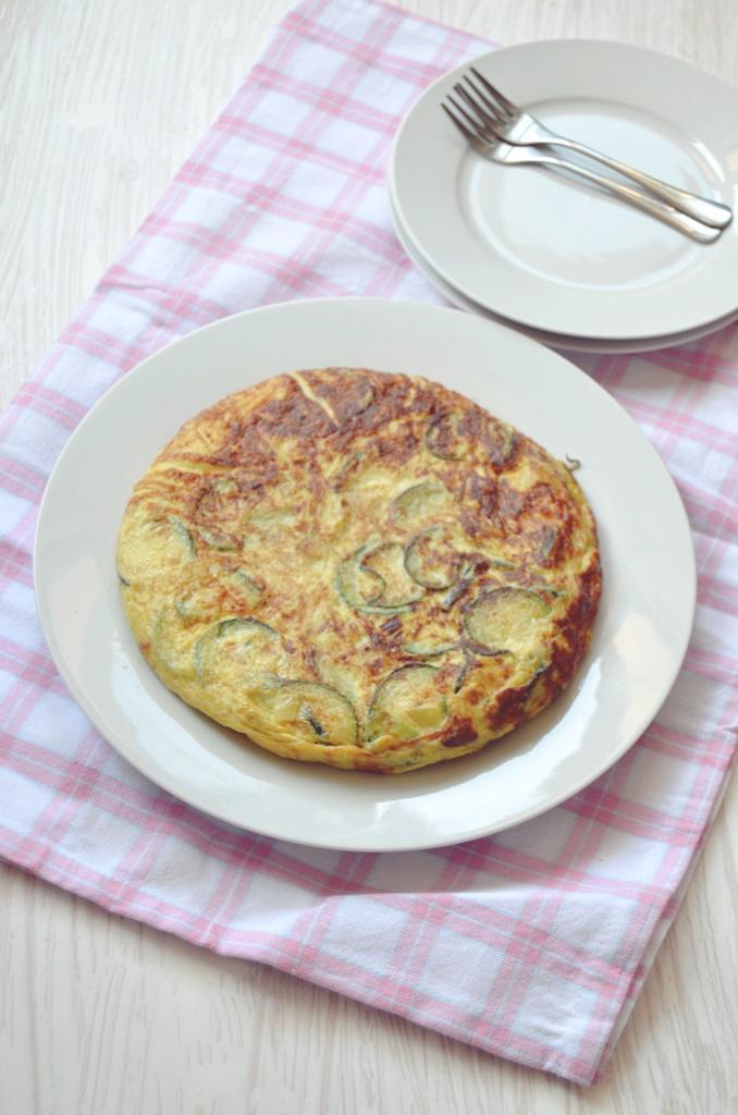Tortilla de calabacín y puerro